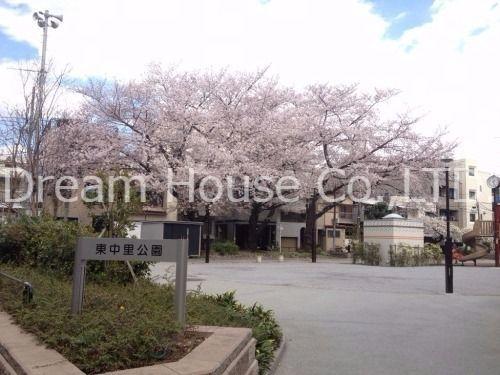 駒込駅東口の公園。桜が綺麗な東中里公園。ドリームハウス株式会社