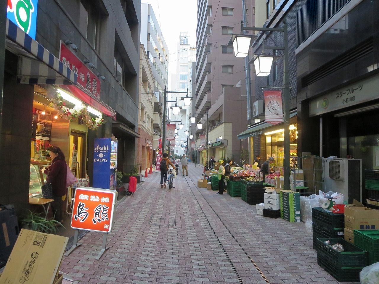 柳町仲通り商店街。文京区春日。