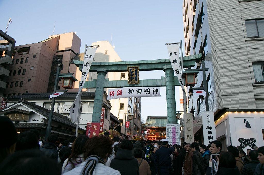 神田明神に新年初詣に行ってきました。