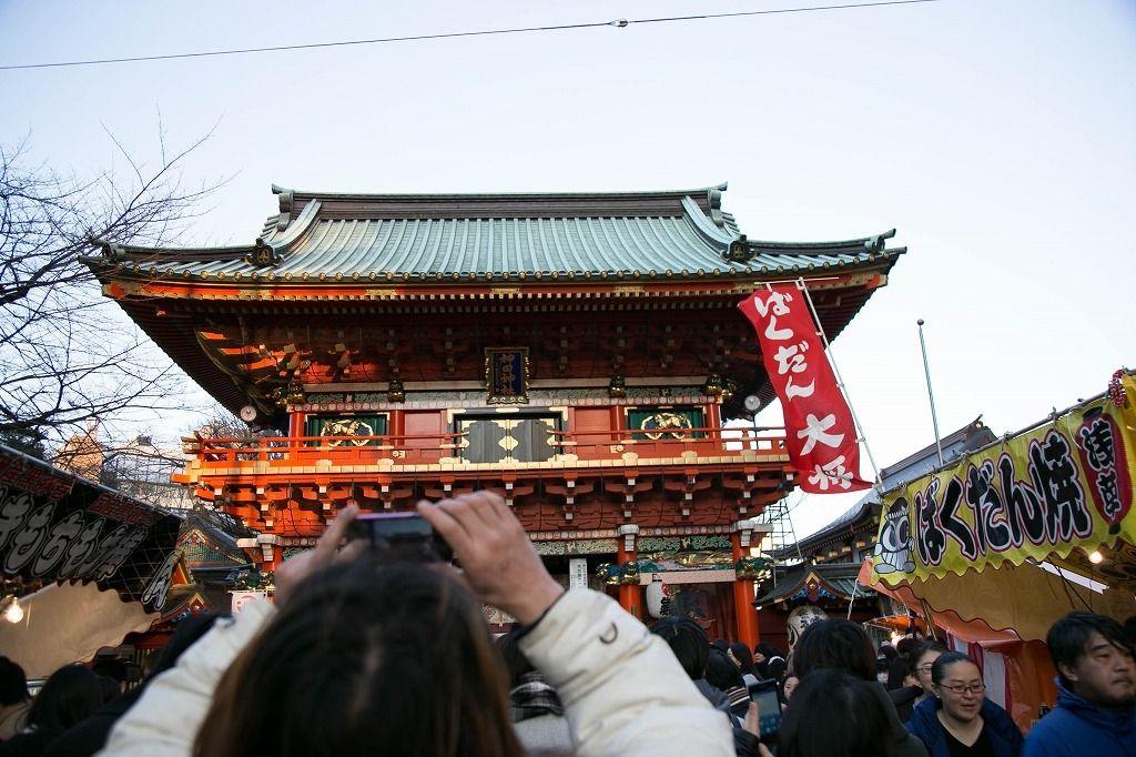 神田明神境内内。正月三が日は30万人を超す参拝客で賑わいます。文京区の賃貸不動産はドリームハウス株式会社