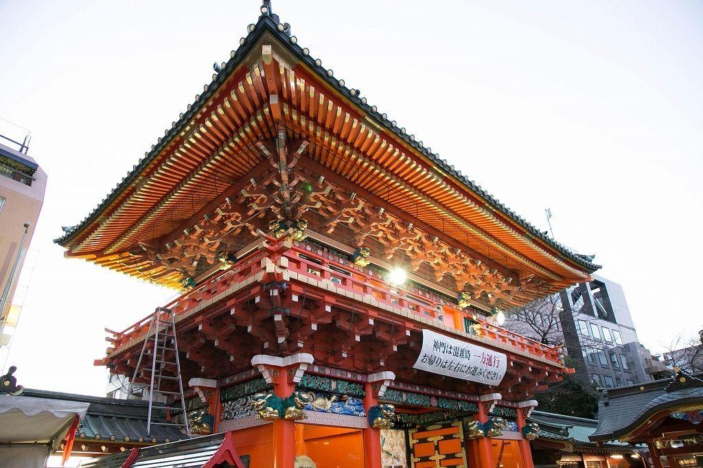 神田明神のきらびやかな社殿に圧倒されました。昭和小学校の不動産はドリームハウス株式会社