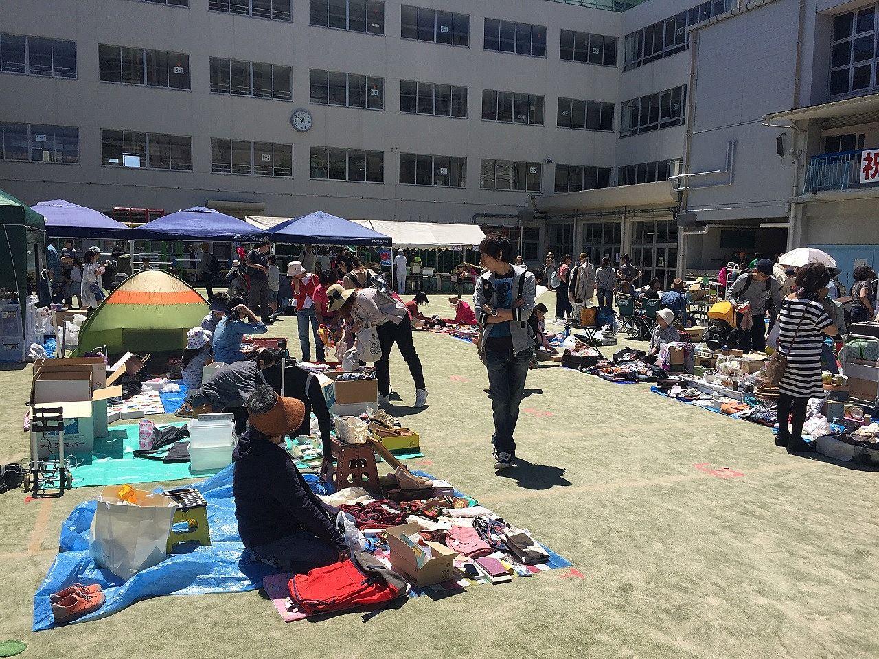 駕籠町小学校「第22回駕籠町お楽しみ広場(フリーマーケット)」行ってきました。