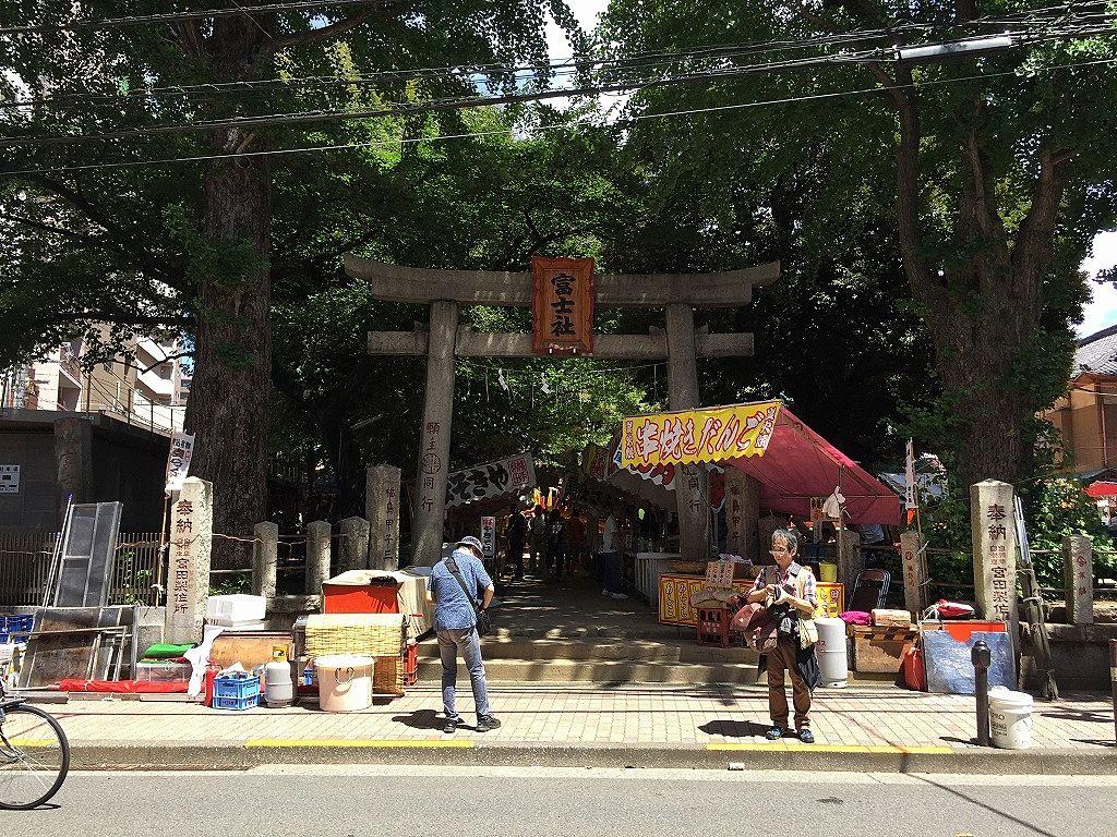 駒込富士神社。文京区本駒込の賃貸物件ドリームハウス