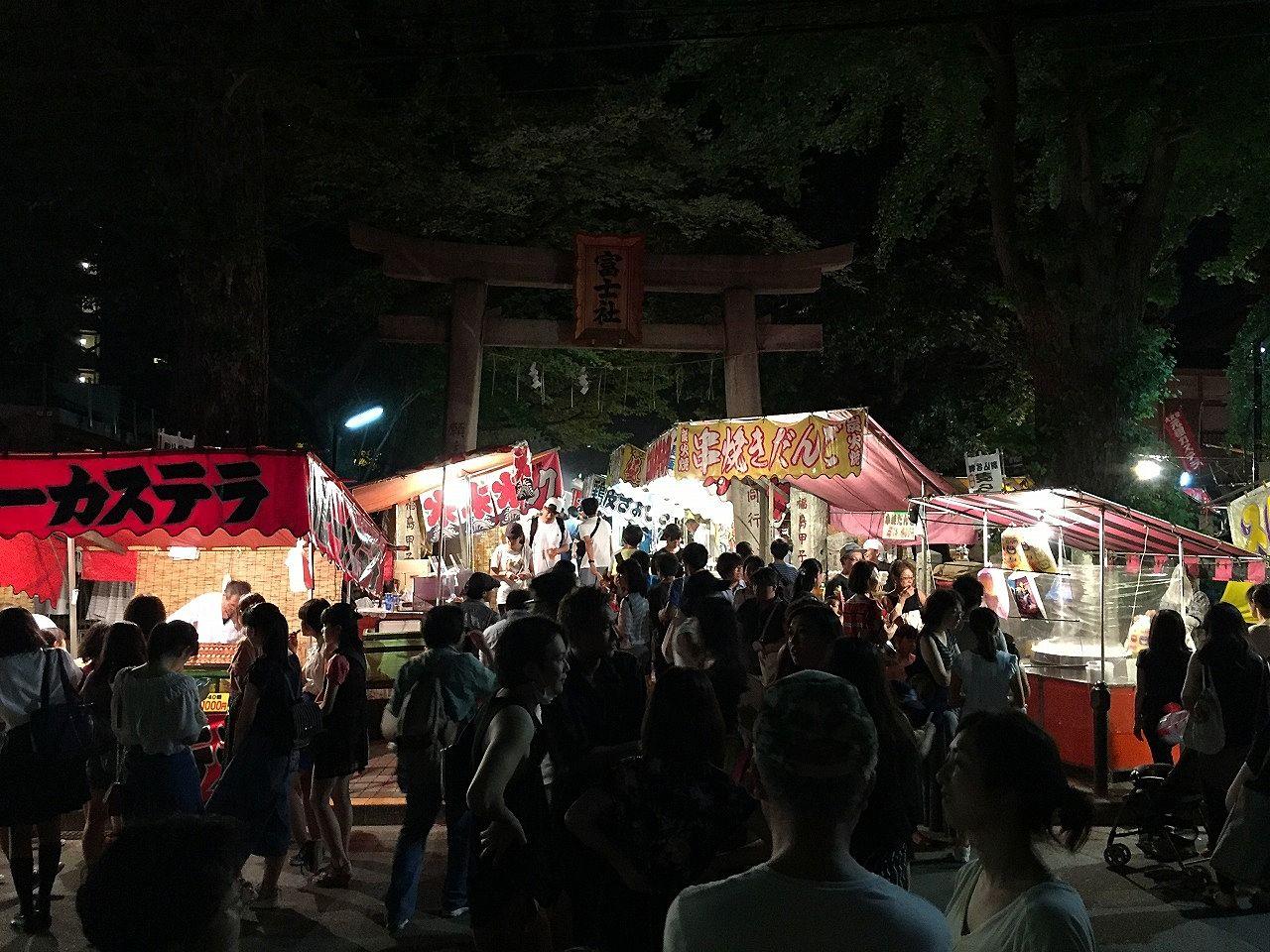 駒込富士神社富士山山開きの大祭縁日。文京区賃貸はドリームハウス